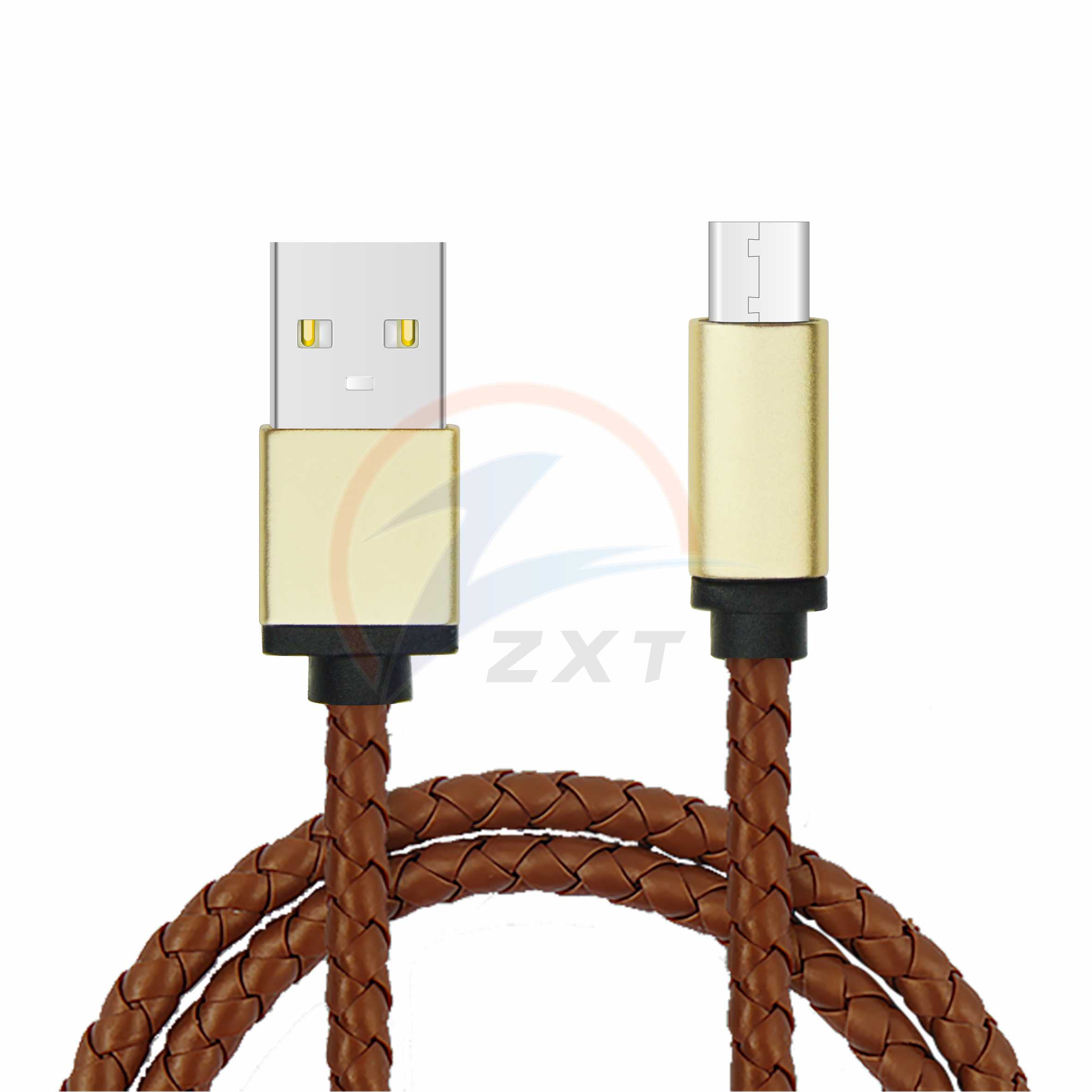 Leather Braided Cable