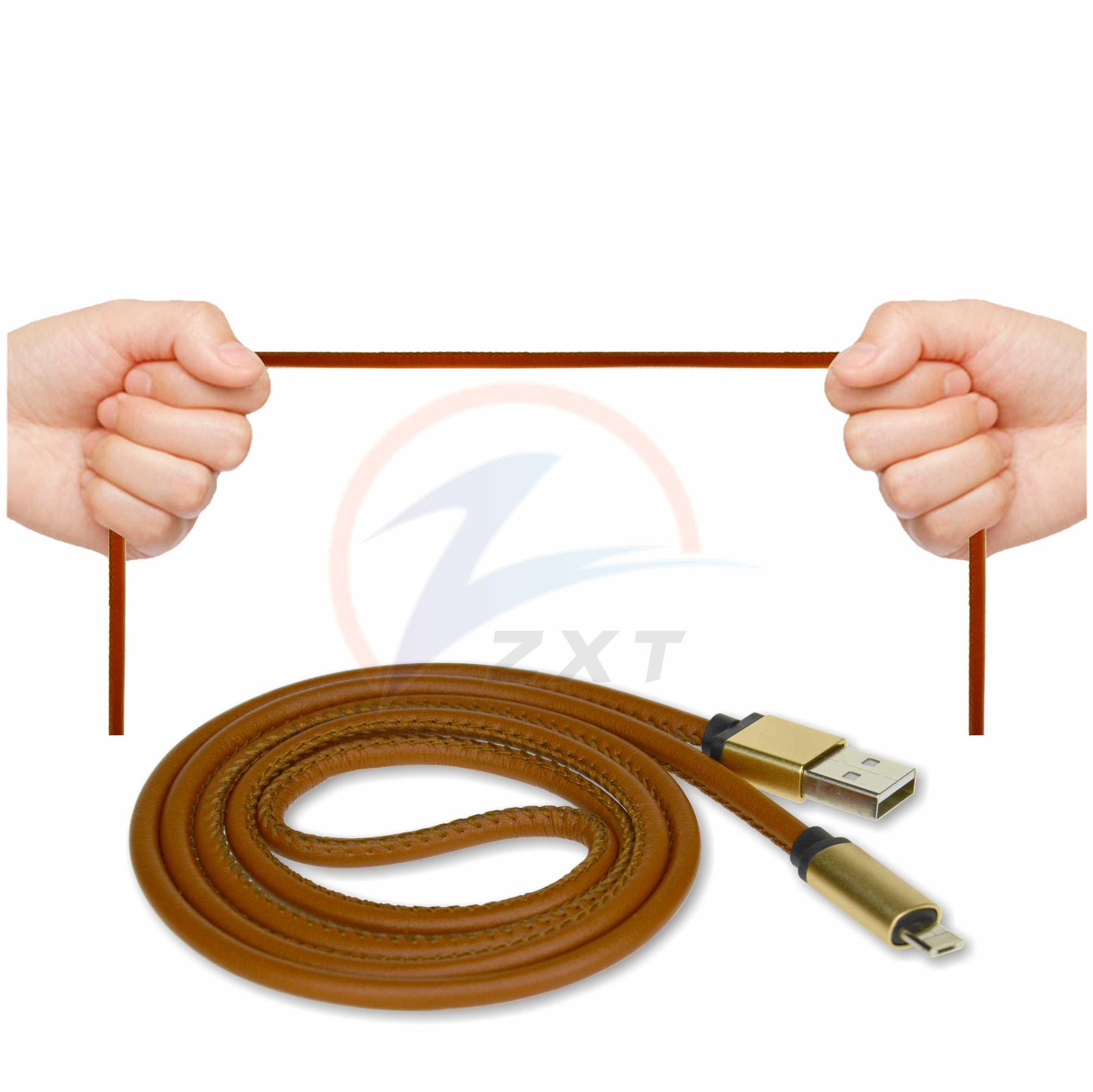 2 in 1 LM Leather Cable For Android & IOS